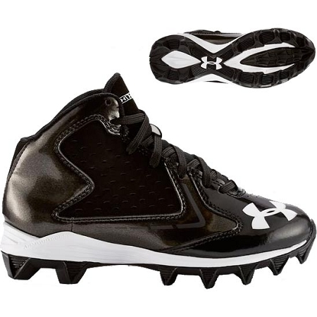 Molded Football//Lacrosse Cleats NWT Under Armour UA Hammer Mid RM Jr