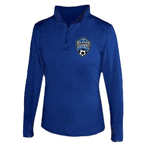 Blaine Soccer 1/4 Zip Ladies Lightweight Pullover