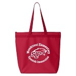 Woodcrest Spanish Immersion Zippered Tote Bag