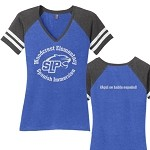 Woodcrest Spanish Immersion V-Neck Game T-shirt Ladies