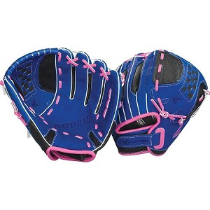 "Easton Natural Youth Fastpitch Glove 11.5"" - Blue/Pink"