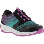 Soft Point Kids ZeroTie Shoe - Black/Teal/Purple