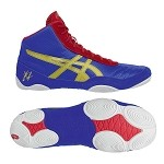 Asics JB Elite V2.0 Wrestling Shoe - Jet Blue/Oly. Gold/Red